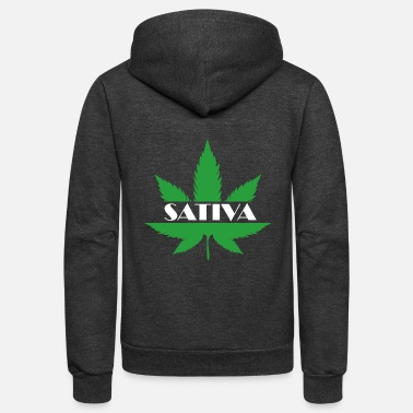 Hemp SATIVA Shirt for everybody who wants to celebrate - Unisex Fleece Zip Hoodie
