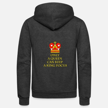 Cupid Only A Queen Can Keep A King Focus T-Shirt St. Val - Unisex Fleece Zip Hoodie