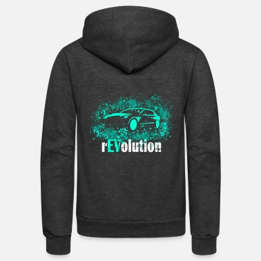 Clean What It Is Revolution Electric Car Electric Vehicle EV - Unisex Fleece Zip Hoodie