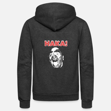 Punga New Zealand Rugby with Haka print for Rugby Fan - Unisex Fleece Zip Hoodie