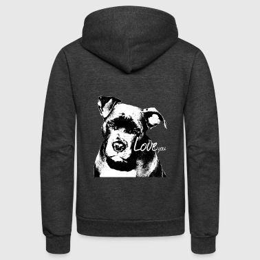 Staffordshire,Bulldog,watchdog, - Unisex Fleece Zip Hoodie
