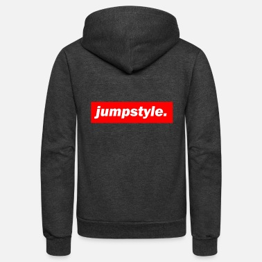 Jumpstyle techno mischpult red bass bpm jumpstyle - Unisex Fleece Zip Hoodie