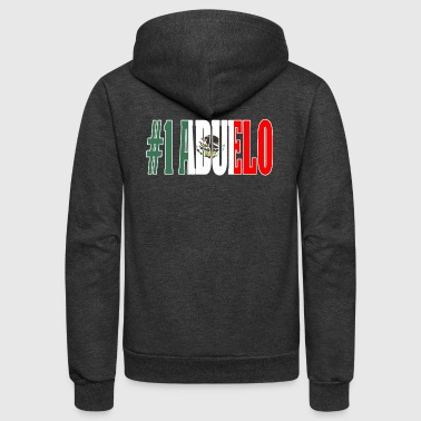 Cool Abuelo Gift Mexican Shirt For Mexican Flag T Shirt for Mexican Pride Outline - Unisex Fleece Zip Hoodie