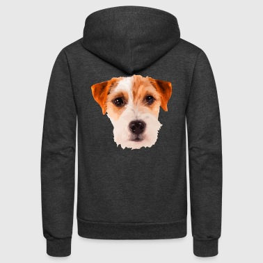 Jack Russell Terrier Face Shirt - Unisex Fleece Zip Hoodie