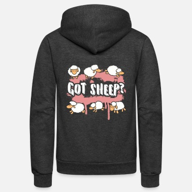Lamb GOT SHEEP LAMBS WOMEN'S PINK SHIRT - Unisex Fleece Zip Hoodie