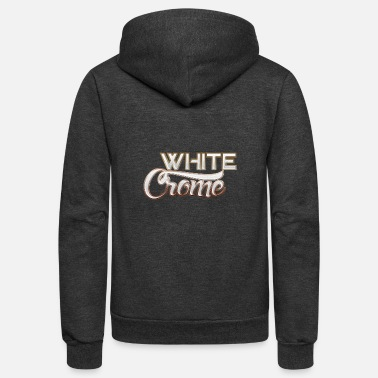 Chrome White Chrome - Unisex Fleece Zip Hoodie
