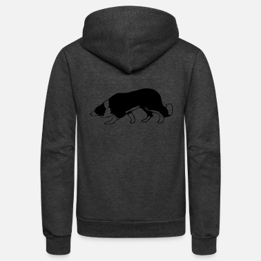 Border Collie border collie - Unisex Fleece Zip Hoodie