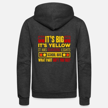 Bus Driver SCHOOL BUS DRIVER SHIRT - Unisex Fleece Zip Hoodie