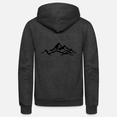 Mountains Mountain Icon Mountains Ski Climbing Mountaineers - Unisex Fleece Zip Hoodie