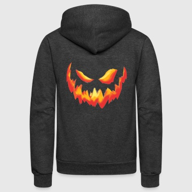 Scary Scary Pumpkin Face - Unisex Fleece Zip Hoodie
