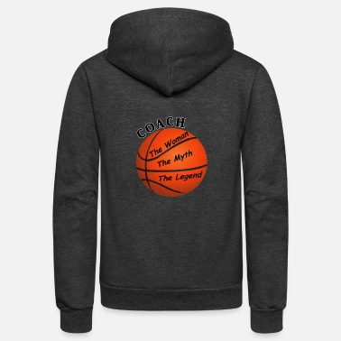 Coach Basketball Coach The Woman The Myth The Legend - Unisex Fleece Zip Hoodie