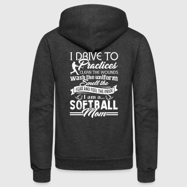 Softball Shirt - Unisex Fleece Zip Hoodie