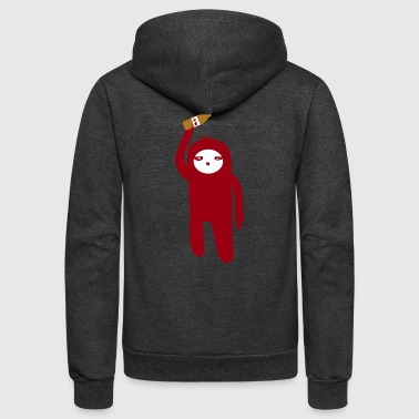 Minimalist Marsupial WITH A 40 - Unisex Fleece Zip Hoodie
