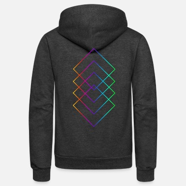 Quadrat Quadrat 'rainbow' - Unisex Fleece Zip Hoodie