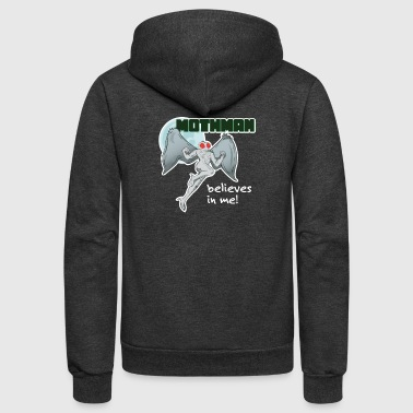 Mothman Believes in Me! | Point Pleasant, WV - Unisex Fleece Zip Hoodie