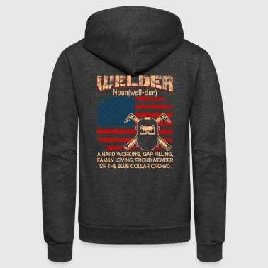 Welder Flag Definition Shirt - Unisex Fleece Zip Hoodie