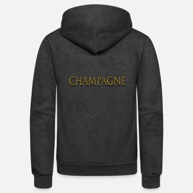 Champagne-glass champagne - Unisex Fleece Zip Hoodie