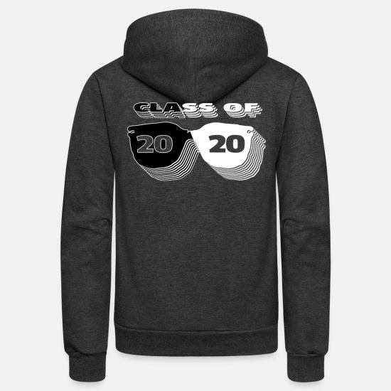 5aebbc545e62 2020 Hoodies & Sweatshirts - Class Of 2020 Black & White Sunglasses -  Unisex Fleece Zip