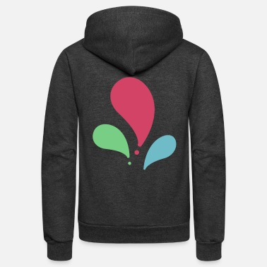 Color Splash splash color - Unisex Fleece Zip Hoodie