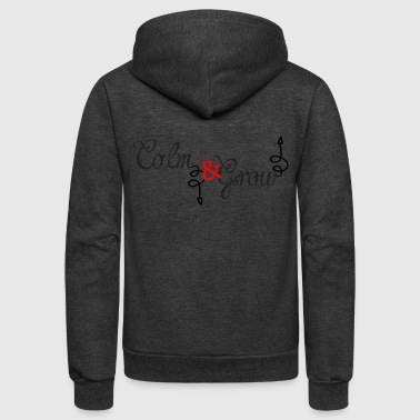 CALM Down - Unisex Fleece Zip Hoodie