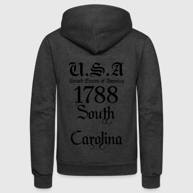 South Carolina,United States of America, USA,US - Unisex Fleece Zip Hoodie