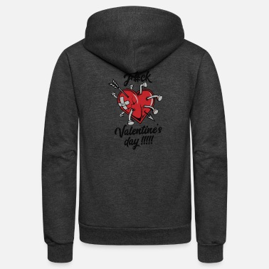 Broken Heart Anti-Valentine's Day - Unisex Fleece Zip Hoodie