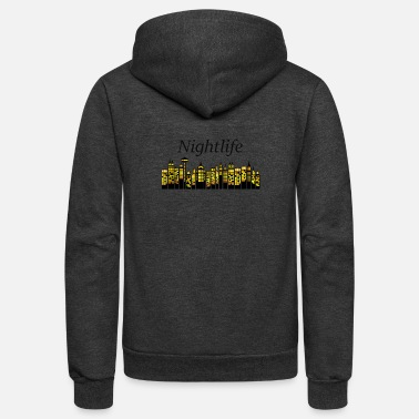 Nightlife - Unisex Fleece Zip Hoodie