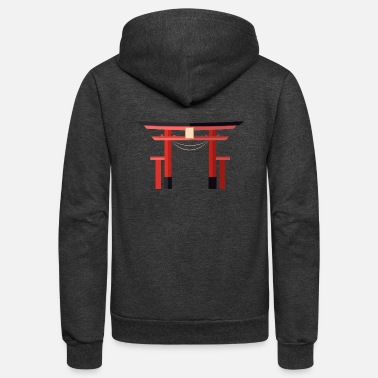 Japanese Gates Japanese Torii Gate - Unisex Fleece Zip Hoodie