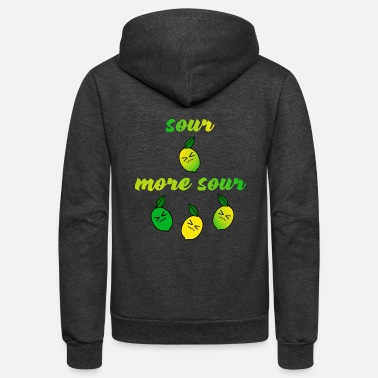 Sour sour more sour - Unisex Fleece Zip Hoodie