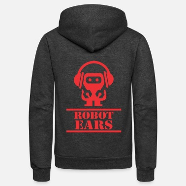 Ear Plugs Robot ears - Unisex Fleece Zip Hoodie