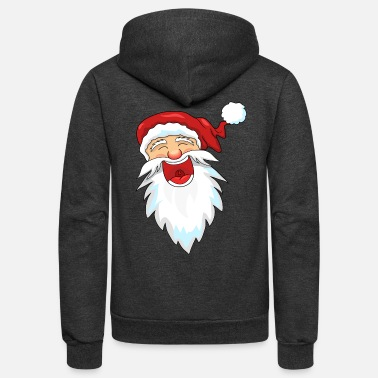 Santa Claus Laughing Santa Claus / Santa Claus - Unisex Fleece Zip Hoodie