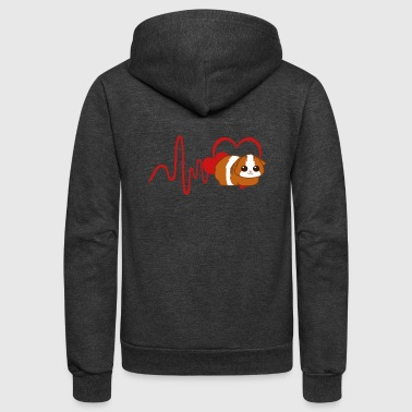Heart Guinea Pig Shirt - Unisex Fleece Zip Hoodie