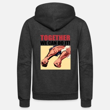 Popartcontest Together We Can Do It - Unisex Fleece Zip Hoodie