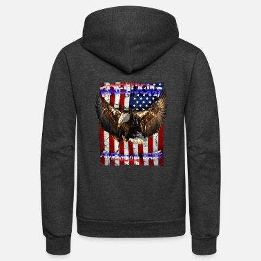 Freedom Freedom American pride USA eagle - Unisex Fleece Zip Hoodie