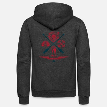 Crossfit Crossfit Jungle Red - Unisex Fleece Zip Hoodie