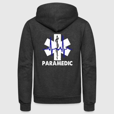 Paramedic Heartbeat Shirt - Unisex Fleece Zip Hoodie