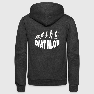 Biathlon Evolution - Unisex Fleece Zip Hoodie