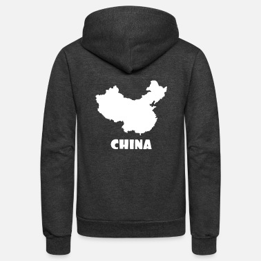 China China - Unisex Fleece Zip Hoodie