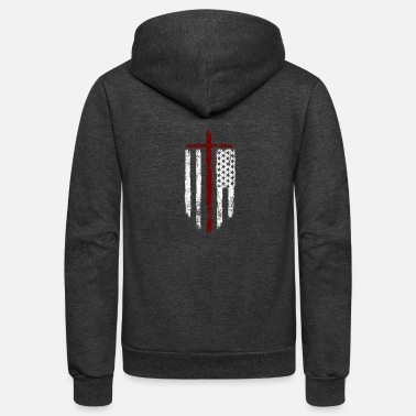 Crusader Cross of the Crusader - Unisex Fleece Zip Hoodie