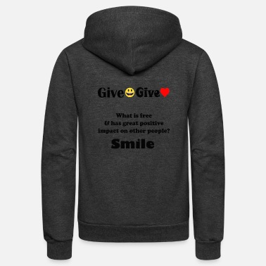 Give Smile Give Love - Unisex Fleece Zip Hoodie
