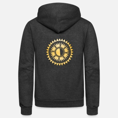 Eclipse Flower - Unisex Fleece Zip Hoodie