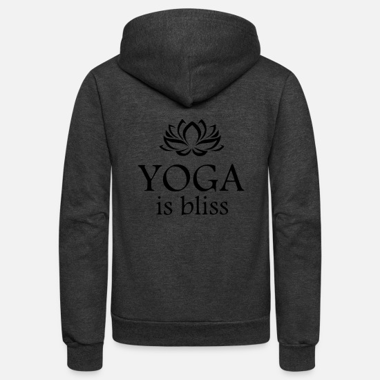 Symbol  Hoodies & Sweatshirts - yoga is bliss - Unisex Fleece Zip Hoodie charcoal gray