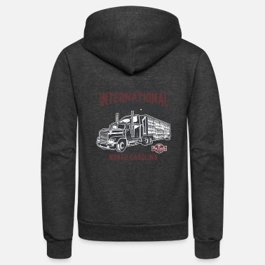 Streaker Big Truck - Unisex Fleece Zip Hoodie