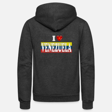 I love Venezuela - Unisex Fleece Zip Hoodie