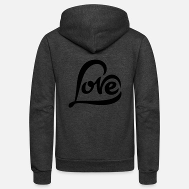 Love Heart love heart - Unisex Fleece Zip Hoodie