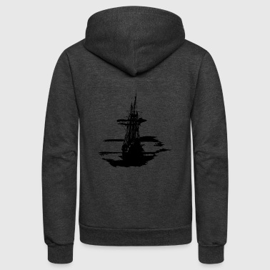 pirate ship - Unisex Fleece Zip Hoodie