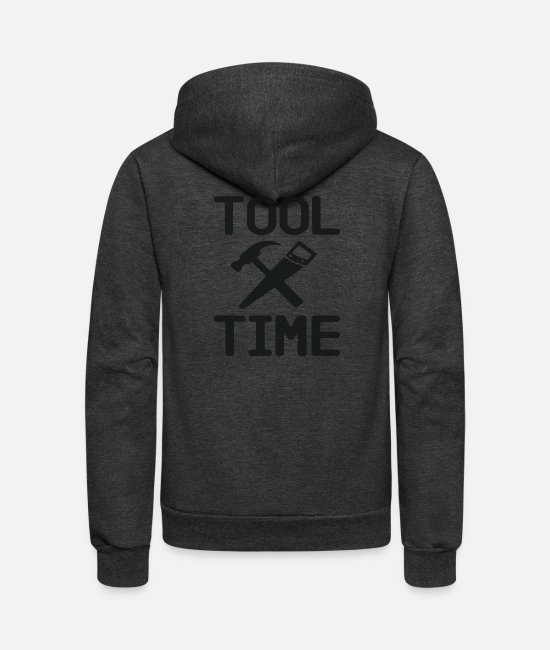 Nostalgic Hoodies & Sweatshirts - Tool Time - Binford - Unisex Fleece Zip Hoodie charcoal gray