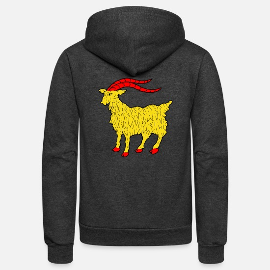 Animal Rights Activists Hoodies & Sweatshirts - goat - Unisex Fleece Zip Hoodie charcoal gray