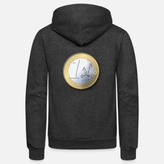 Euro Pop Hoodies & Sweatshirts - 1 Euro - Unisex Fleece Zip Hoodie charcoal gray
