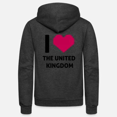 Unite With Love I Love The United Kingdom - Unisex Fleece Zip Hoodie